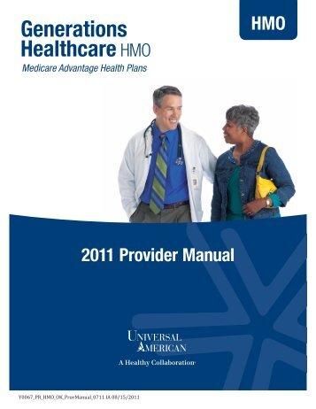 2011 Provider Manual - Universal American Medicare