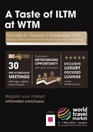A Taste of ILTM at WTM - World Travel Market
