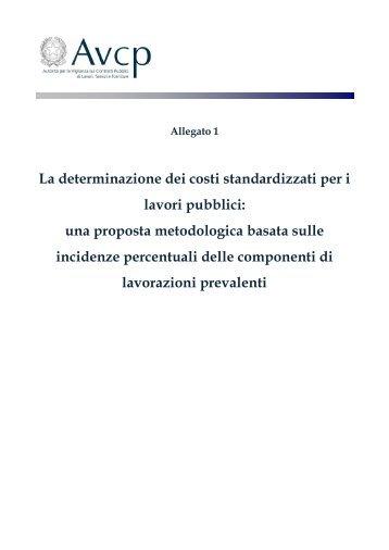 La determinazione dei costi standardizzati per i lavori pubblici: una ...