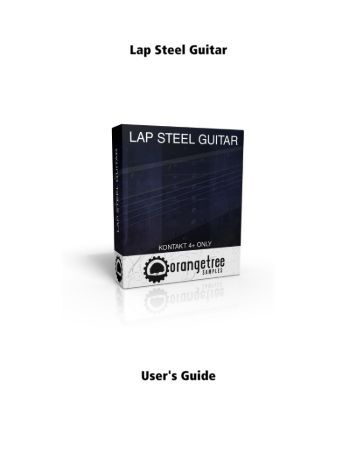 Lap Steel Guitar - User's Guide (PDF) - Orange Tree Samples