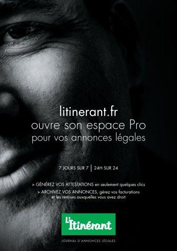 litinerant.fr ouvre son espace Pro