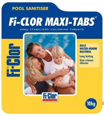 Maxi-Tabs 10kg Label - PoolAndSpaCentre