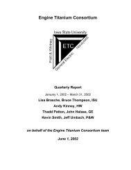 Engine Titanium Consortium - Center for Nondestructive Evaluation ...
