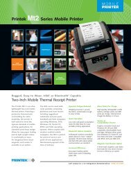 Printek Mt2 Series Mobile Printer - Srdinfotech.com