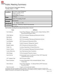 Public Meeting Summary - NOLA Environmental