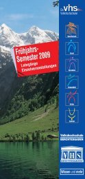 Frühjahrs- Semester 2009 - Gemeinde Berchtesgaden