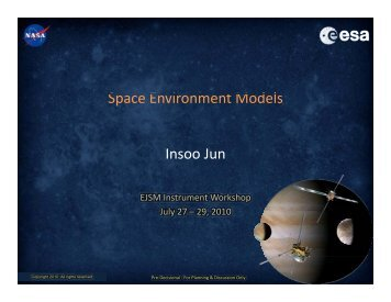 S E i tM d l Space Environment Models Insoo Jun