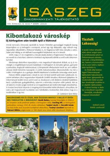 Isaszeg önkormányzati tájékoztató 2009. 6. sz. - EPA