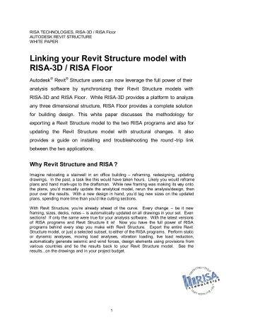 RISA - REVIT Structure White Paper - RISA Technologies
