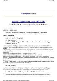 Decreto Legislativo 16 aprile 1994, n. 297 - Sogisnc.it