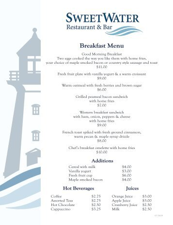 Breakfast Menu - MyCollingwood.ca