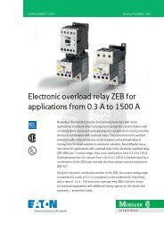 Electronics overload relay ZEB for applications from 0.3 to ... - Moeller