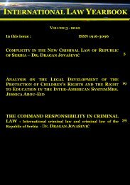 INTERNATIONAL LAW YEARBOOK - Free World Publishing Inc.