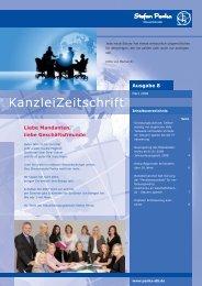 Kanzleizeitschrift Ausgabe Nummer 8 von März 2008