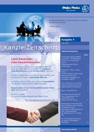 Kanzleizeitschrift Ausgabe Nummer 4 von März 2007