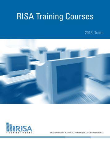 RISA Training Courses - RISA Technologies