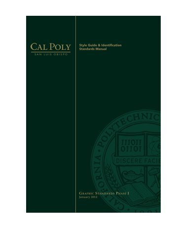 Style Guide & Identification Standards Manual - Cal Poly Public ...