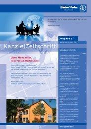 Kanzleizeitschrift Ausgabe Nummer 6 von September 2007