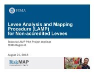 Levee Analysis and Mapping Procedure (LAMP) for ... - RiskMAP6