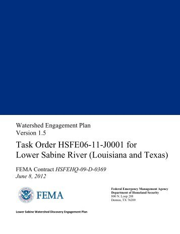 Lower Sabine Watershed Engagement Plan - RiskMAP6