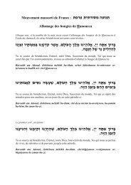 Allumage des bougies de Hanoucca - Massorti