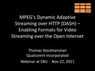 MPEG's Dynamic Adaptive Streaming over HTTP (DASH ...