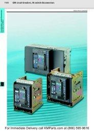 IZM circuit-breakers, IN switch-disconnectors ... - Moeller Electric Parts