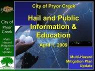Pryor - 4 - Hail & Public Education Presentation - R.D. Flanagan ...
