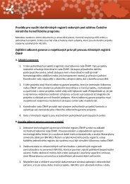 Pravidla pro využití dat klinických registrů vedených pod záštitou ...