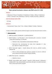 Zápis z jednání Koordinační a Výkonné rady ČNHP ze dne 22
