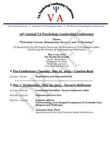 2013 VAPL Conference -Draft Agenda.pdf - VA Psychology ...