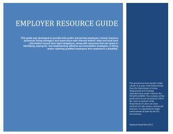 employer resource guide - Center for Psychiatric Rehabilitation