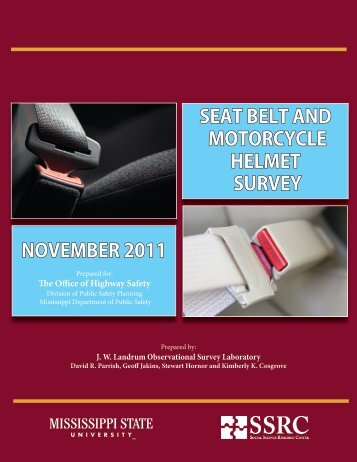 Seat Belt Usage Rates by County - Mississippi Department of Public ...