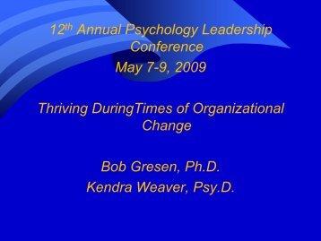 Thriving During Times of Organizational Change - Association of VA ...