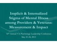 VAPL 2013 breakout session stigma.pdf - VA Psychology ...