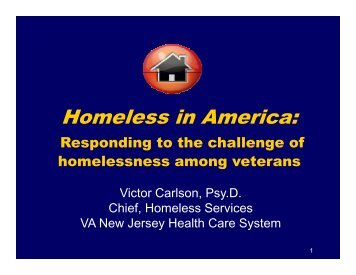 Homeless in America: Responding To The Challenge Of