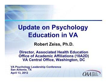Education Update RZeiss-120404.pdf - VA Psychology Leadership ...