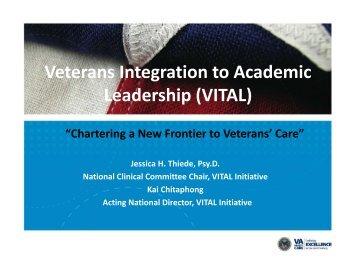 Thiede National VITAL Program San Antonio VA Leadership ...