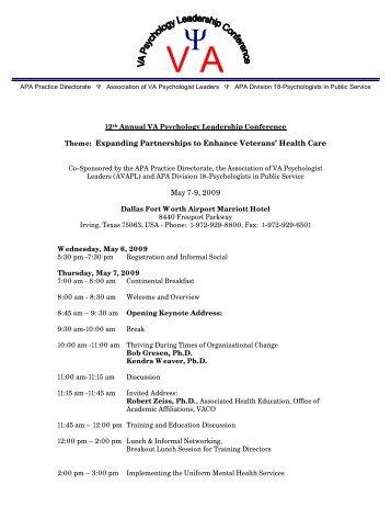 2009 VA psychology leadership conference agenda 2-3-09.pdf