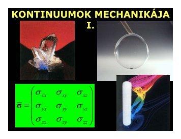 Fizika i-10 kontinuumok i