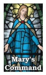Mary's Command - Fellowship Tract League