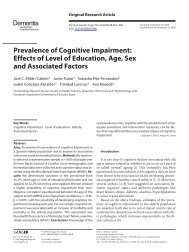 Prevalence of Cognitive Impairment: Effects of Level ... - ResearchGate