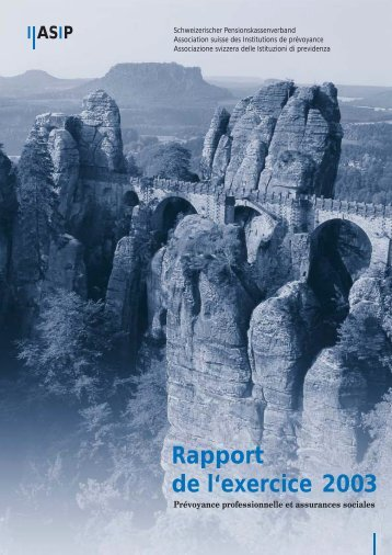 Rapport annuel 2003 (pdf) - ASIP