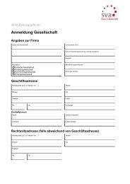 Anmeldung Gesellschaft - SVA-BL
