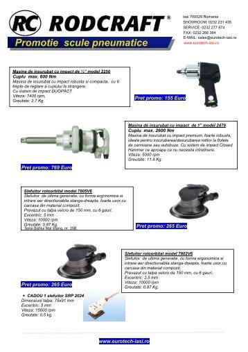 Promotie scule pneumatice - Eurotech Iasi