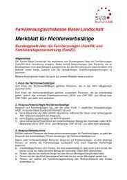 Merkblatt für Nichterwerbstätige - SVA-BL