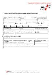 Anmeldung Familienzulagen für Selbständigerwerbende - SVA-BL