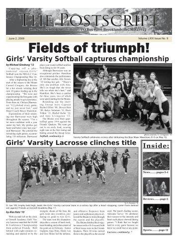 Fields of triumph! - The Park School