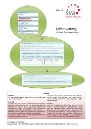 Lohnmeldung via Partnerweb - SVA-BL
