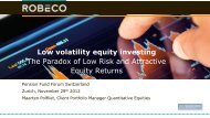 Low volatility equity investing The Paradox of Low Risk and ...